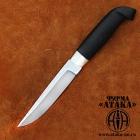 Финский нож клинок с ромбом в сечении и пятой из кованой нерж. стали 95Х18