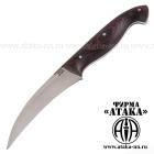 Нож  для чистки из кованой нержавеющей стали 95Х18 цельнометаллический, накладки микарта