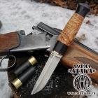 Финский нож «Ламми» клинок с ромбом в сечении из кованой стали Х12МФ, рукоять граб-карелка-граб