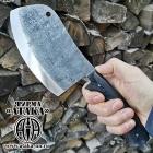 Нож Тяпка из кованой стали Х12МФ со следами ковки от молота