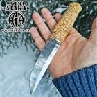 Финский нож «Ламми» клинок с ромбом в сечении из кованой стали 95Х18, рукоять карельская берёза